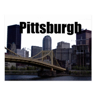 Cartão Postal Skyline do PA de Pittsburgh com o Pittsburgh no
