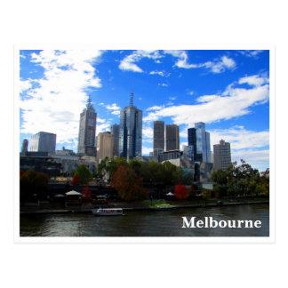 Cartão Postal skyline do yarra de melbourne