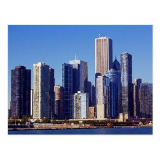 Cartão Postal Skyline dos arranha-céus em Chicago do centro