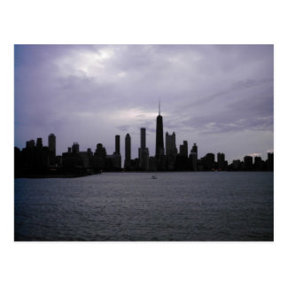Cartão Postal Skyline e Lago Michigan de Chicago