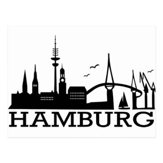 Cartão Postal Skyline Hamburgo