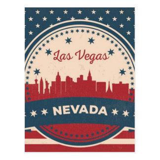 Cartão Postal Skyline retro de Las Vegas
