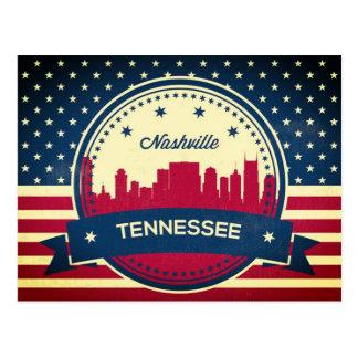 Cartão Postal Skyline retro de Nashville Tennessee