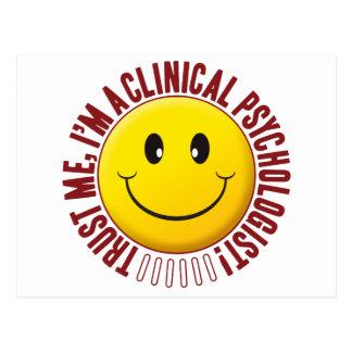 Cartão Postal Smiley da confiança do psicólogo clínico