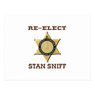 Cartão Postal Sniff do xerife