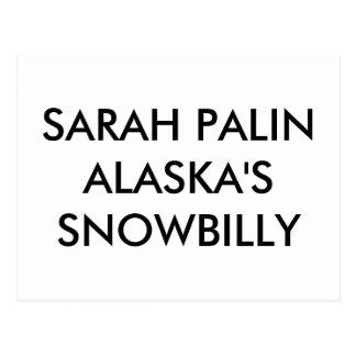CARTÃO POSTAL SNOWBILLY DE SARAH PALINALASKA