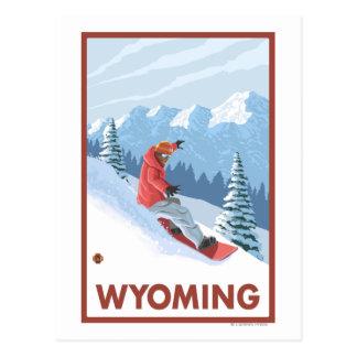 Cartão Postal Snowboarder SceneWyoming