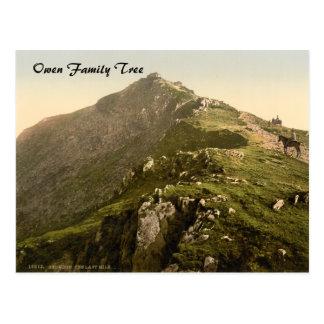 Cartão Postal Snowdon - a última milha, Gwynedd, Wales