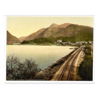 Cartão Postal Snowdon de Pardarn Llyn, Llanberis, Wales P raro