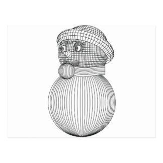 Cartão Postal snowman-2