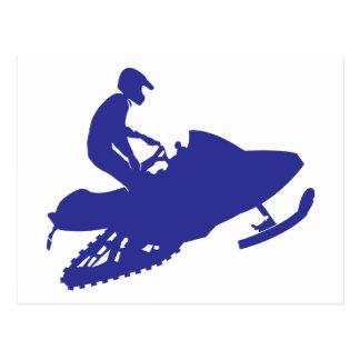 Cartão Postal Snowmobile/Sledder
