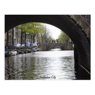 Cartão Postal Sob a ponte de Amsterdão