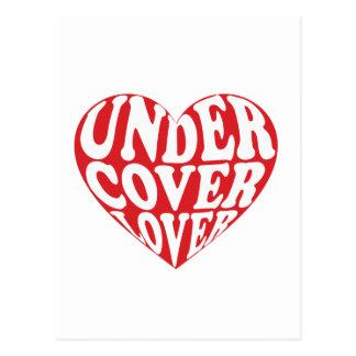 Cartão Postal sob o amante do cobrir