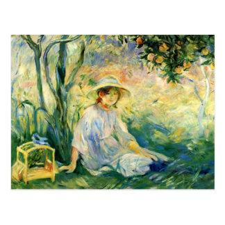 Cartão Postal Sob o Orangetree por Berthe Morisot