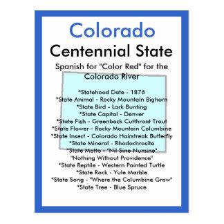 Cartão Postal Sobre Colorado
