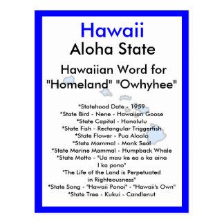 Cartão Postal Sobre Havaí