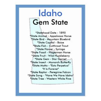 Cartão Postal Sobre Idaho