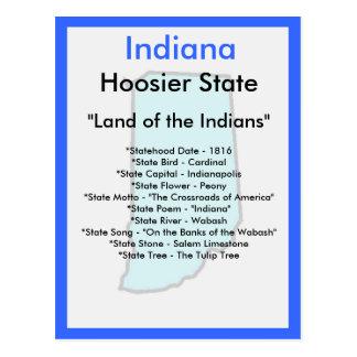 Cartão Postal Sobre Indiana