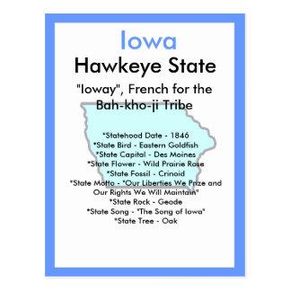Cartão Postal Sobre Iowa