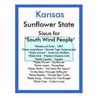 Cartão Postal Sobre Kansas
