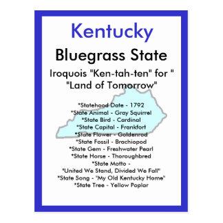 Cartão Postal Sobre Kentucky