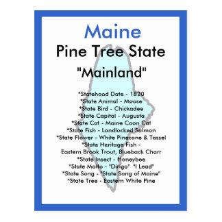 Cartão Postal Sobre Maine