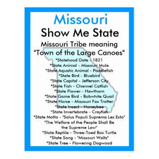 Cartão Postal Sobre Missouri
