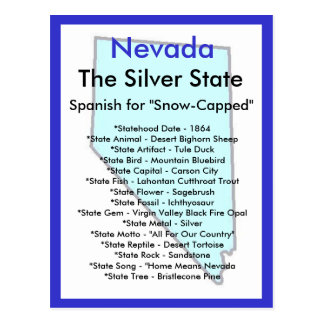 Cartão Postal Sobre Nevada