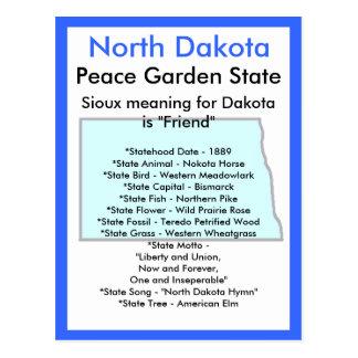 Cartão Postal Sobre North Dakota