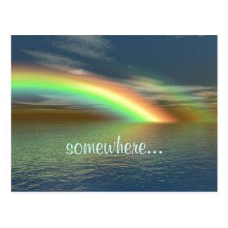 Cartão Postal Sobre o arco-íris