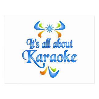 Cartão Postal Sobre o karaoke