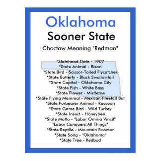 Cartão Postal Sobre Oklahoma