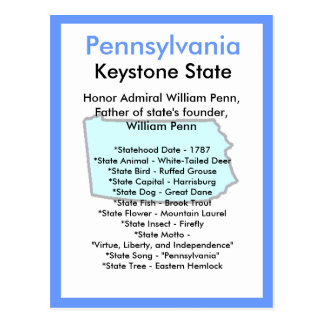 Cartão Postal Sobre Pensilvânia