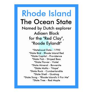 Cartão Postal Sobre Rhode - ilha