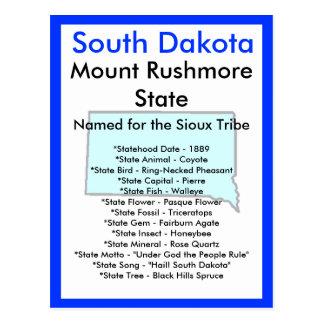 Cartão Postal Sobre South Dakota