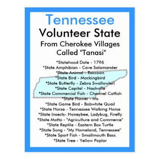 Cartão Postal Sobre Tennessee