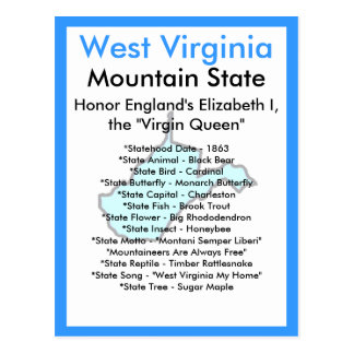 Cartão Postal Sobre West Virginia