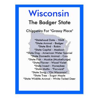 Cartão Postal Sobre Wisconsin