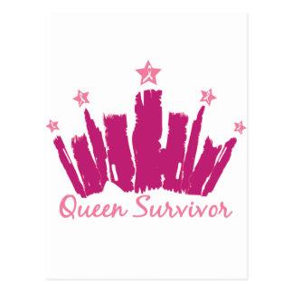 Cartão Postal Sobrevivente do cancro da mama da rainha