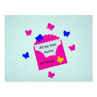 Cartão Postal Sobrinha #1 todo meu amor, Auntie