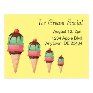 Cartão Postal Social do sorvete