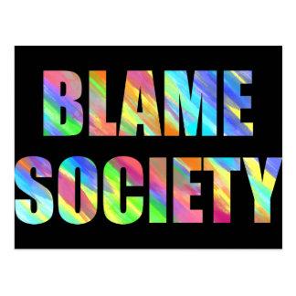 Cartão Postal Sociedade da culpa