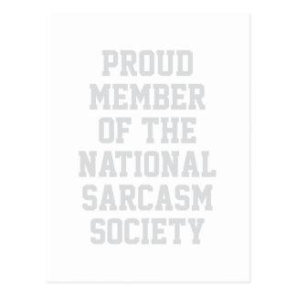 Cartão Postal Sociedade nacional do sarcasmo