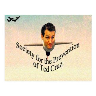 Cartão Postal Sociedade para a prevenção de Ted Cruz
