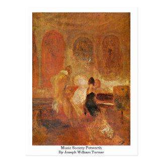 Cartão Postal Sociedade Petworth da música por Joseph William
