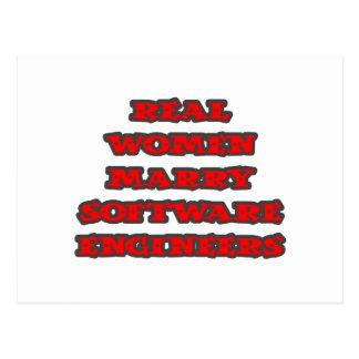 Cartão Postal Software Engineers do casado das mulheres reais