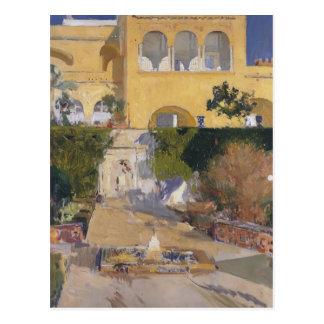Cartão Postal Sol do Sorolla-Meio-dia de Joaquín no Alcázar de