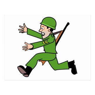 Cartão Postal Soldado do exército dos desenhos animados