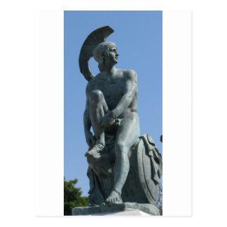 Cartão Postal Soldado do grego clássico na piscina clássica