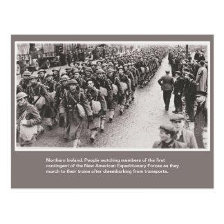 Cartão Postal Soldados americanos da guerra mundial 2 em Irlanda